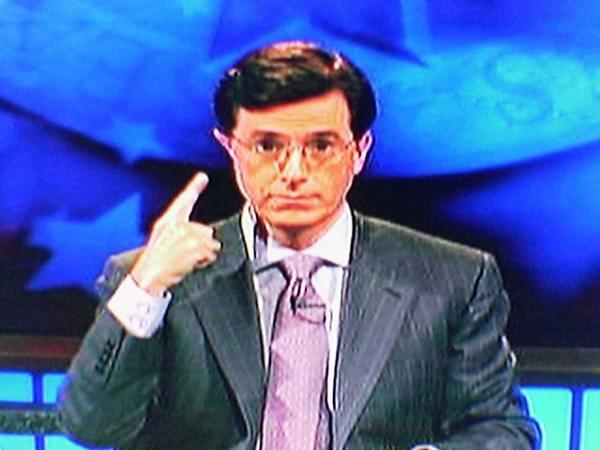 Stephen Colbert's wonky ear
