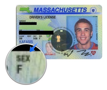 Incorrectly Gendered Driver's License